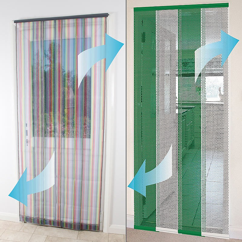 Insect door screen curtain for Pull down fly screen for doors
