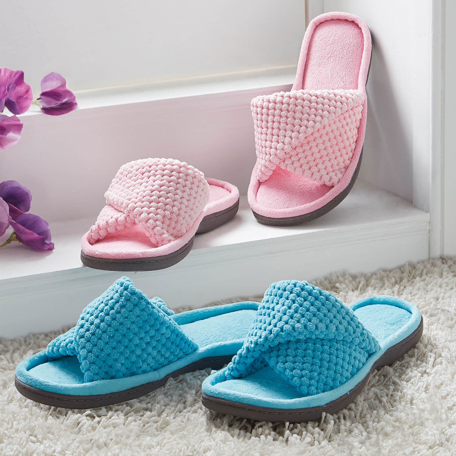 General Clothing Ladies Mule Slippers Pink Small by Coopers of Stortford
