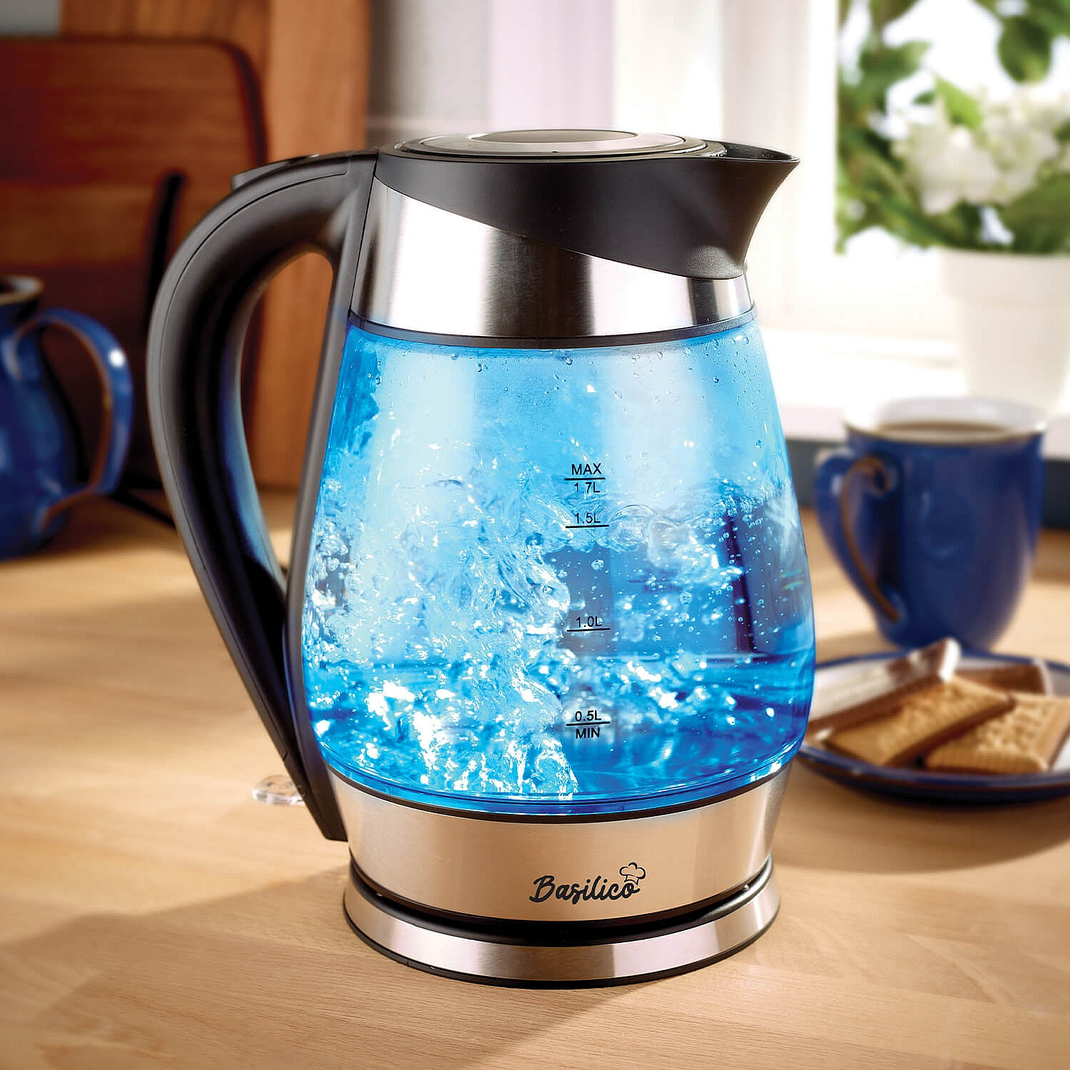 Glass LED Kettle 1.7 litre by Coopers of Stortford