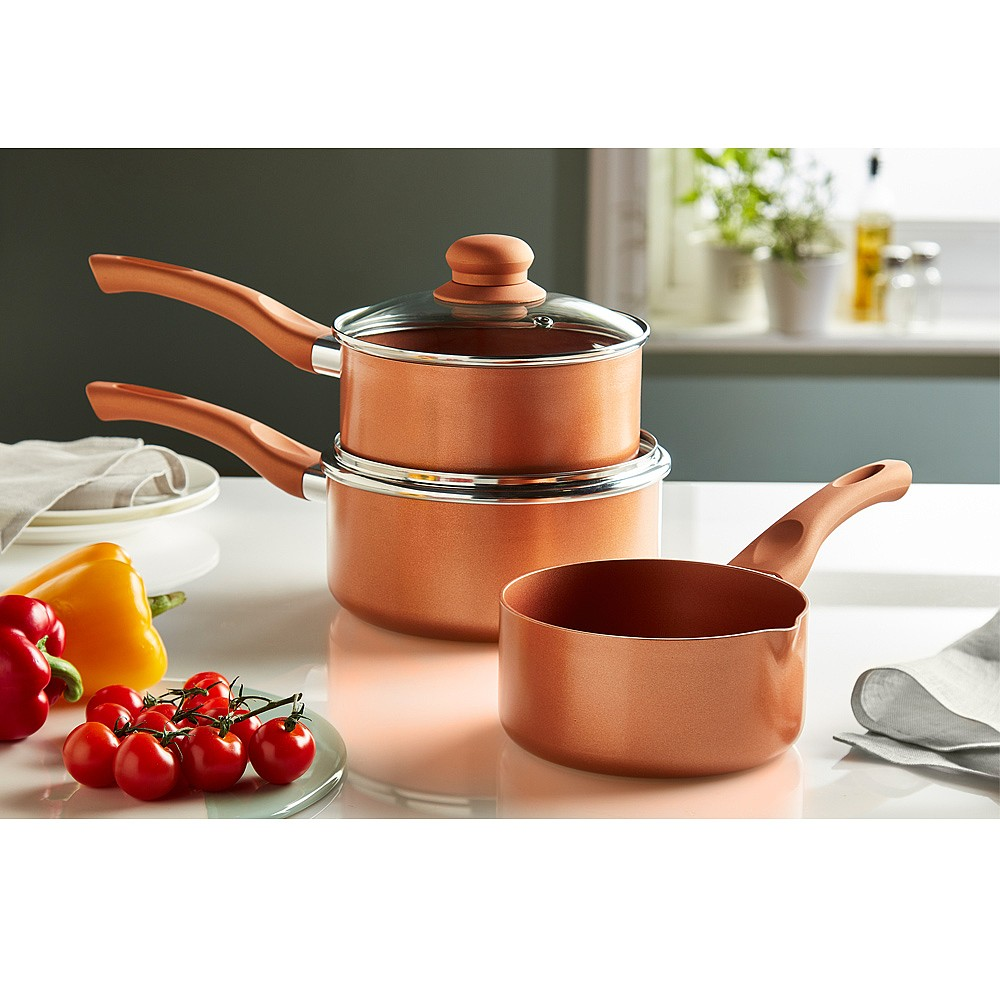 Copper King Saucepans Set of 3 by Coopers of Stortford
