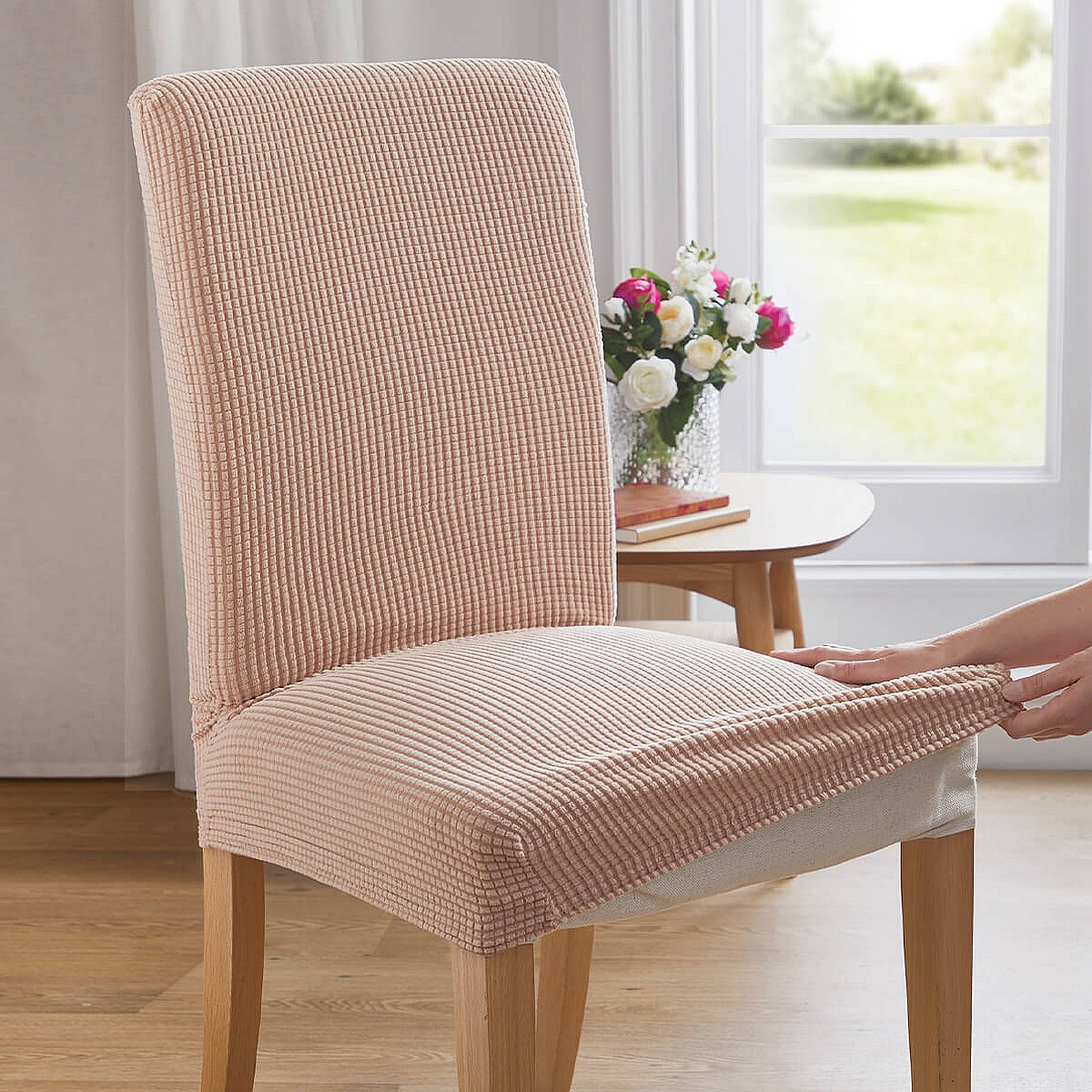 Stretch Dining Chair Covers Set Of 2 Coopers Of Stortford