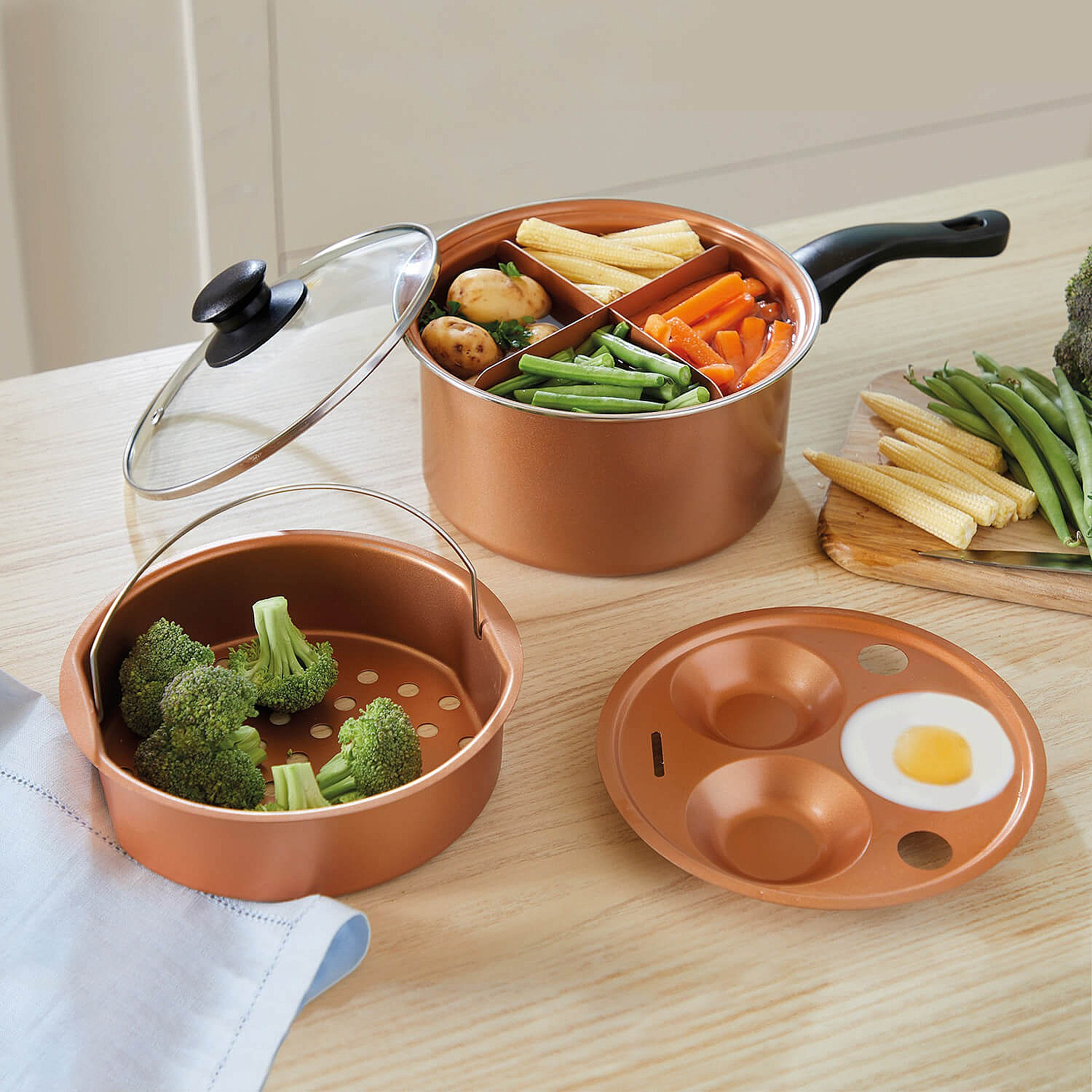 Copper King Copper-Infused Multi-Use Pan by Coopers of Stortford