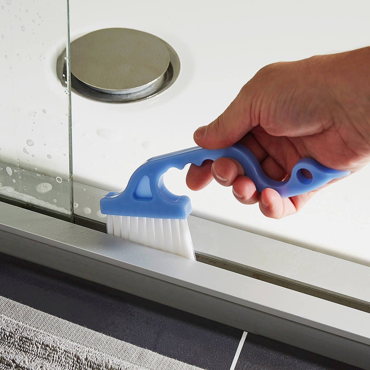 Cleaning Window and Shower Track Brushes 2 Pack by Coopers of Stortford