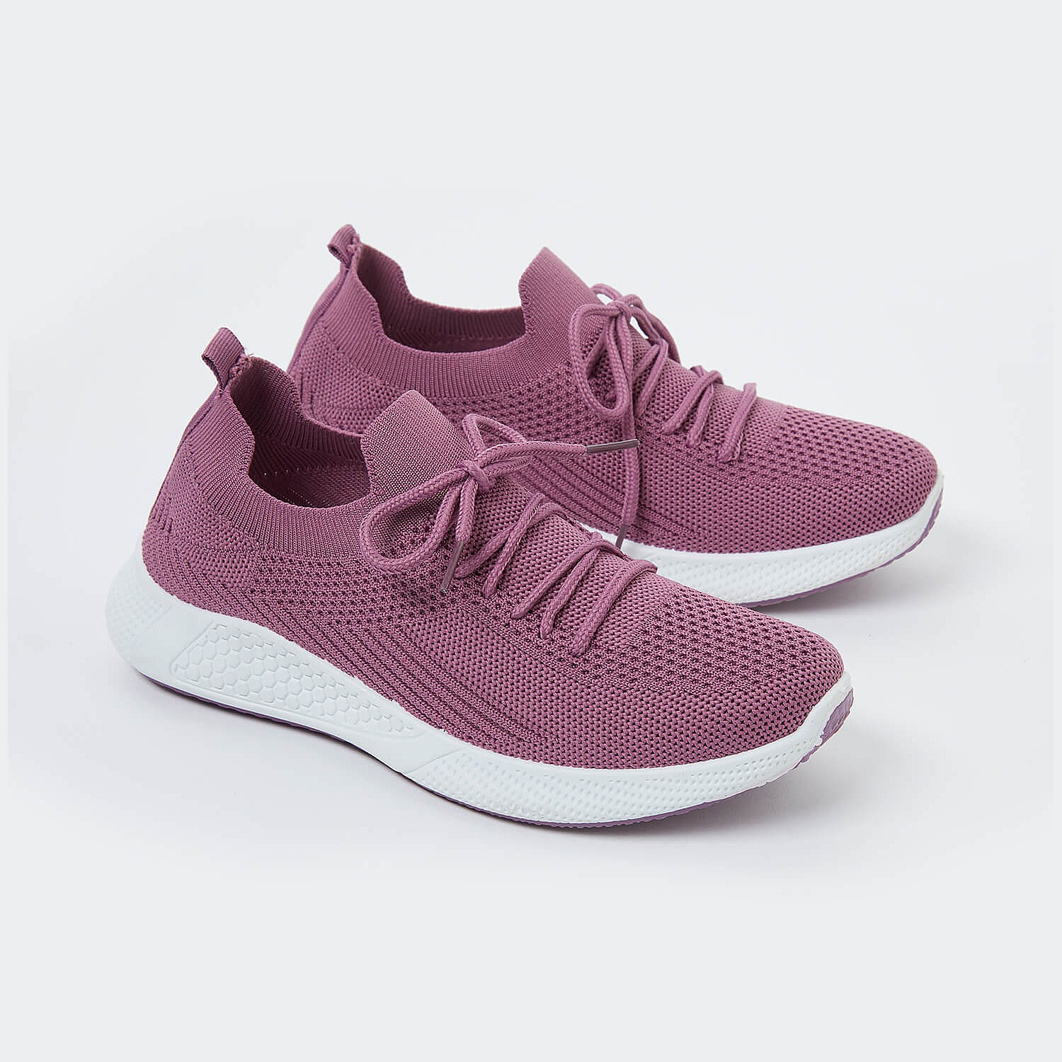 General Clothing Women's Airflow Slip-On Trainers UK Size 8 in Purple By Coopers Of Stortford