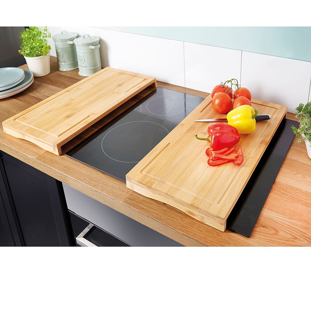 Bamboo Hob Covers Set Of 2 by Coopers of Stortford