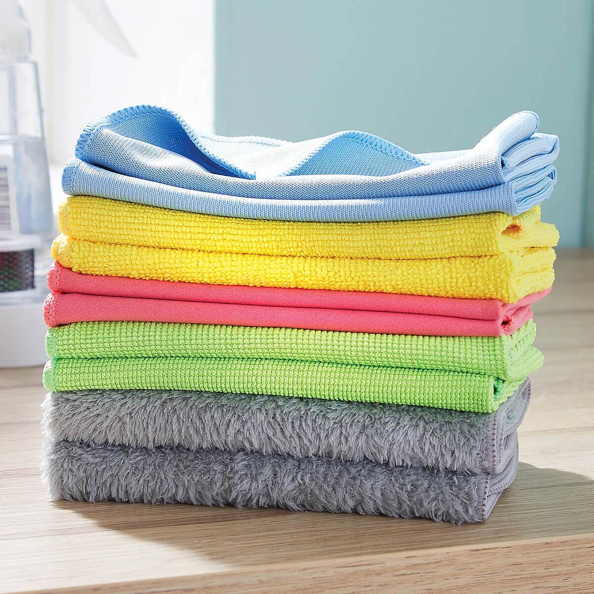 Cleaning Pack Of 10 Multi-Use Microfibre Cloths