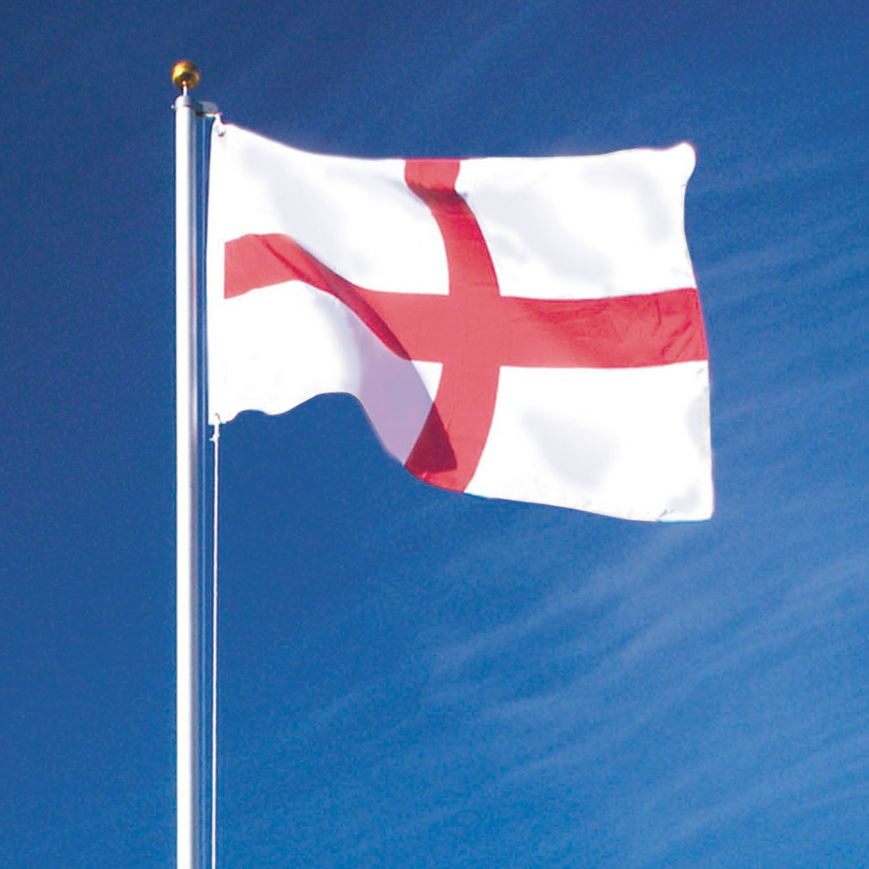 flag pole with st george u0027s and british union flags garden