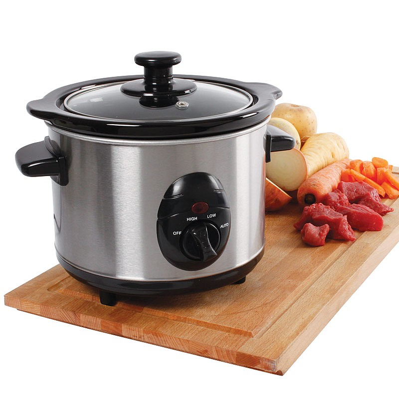 Image of 1.5L Slow Cooker Stainless Steel