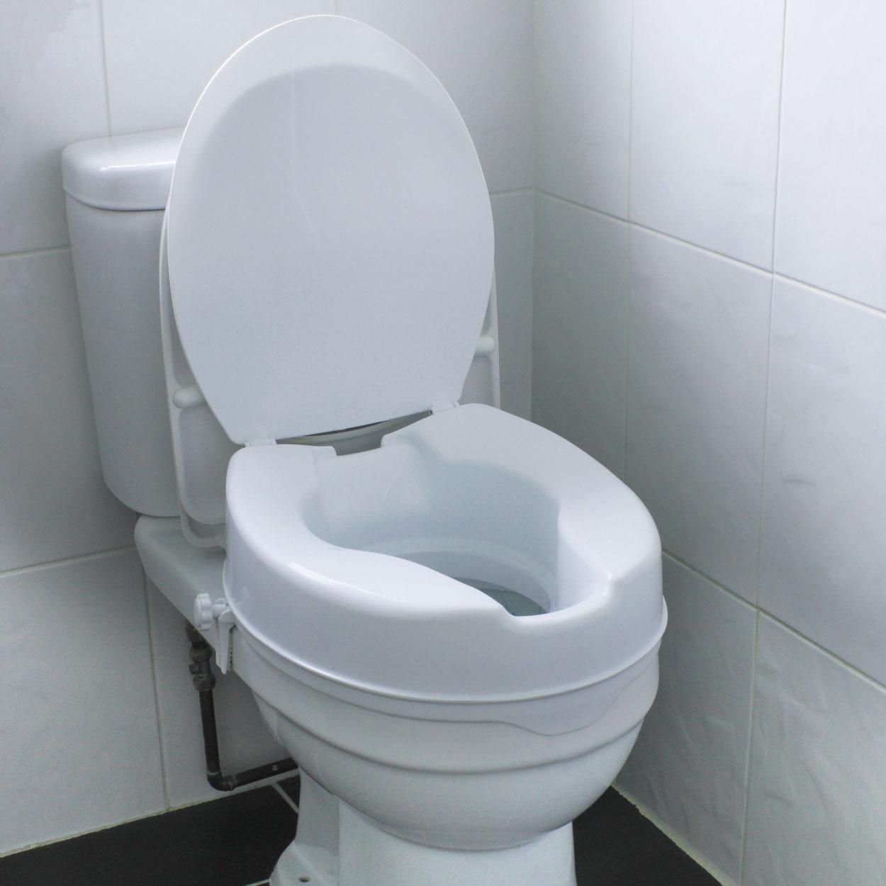 Fabulous Raised Comfort Toilet Seat Theyellowbook Wood Chair Design Ideas Theyellowbookinfo