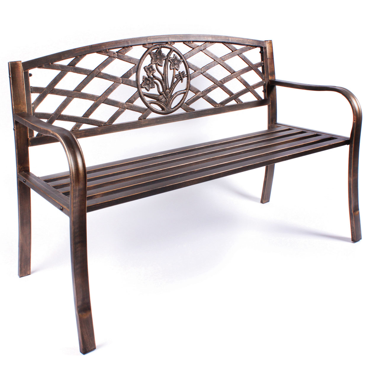 Coopers of Stortford Metal Garden Bench from Coopers of Stortford