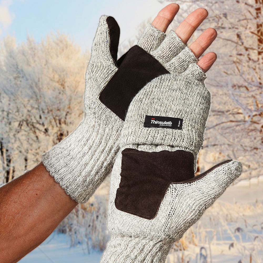 Men's Thinsulate Mitten-Gloves: keep heat in & cold out!