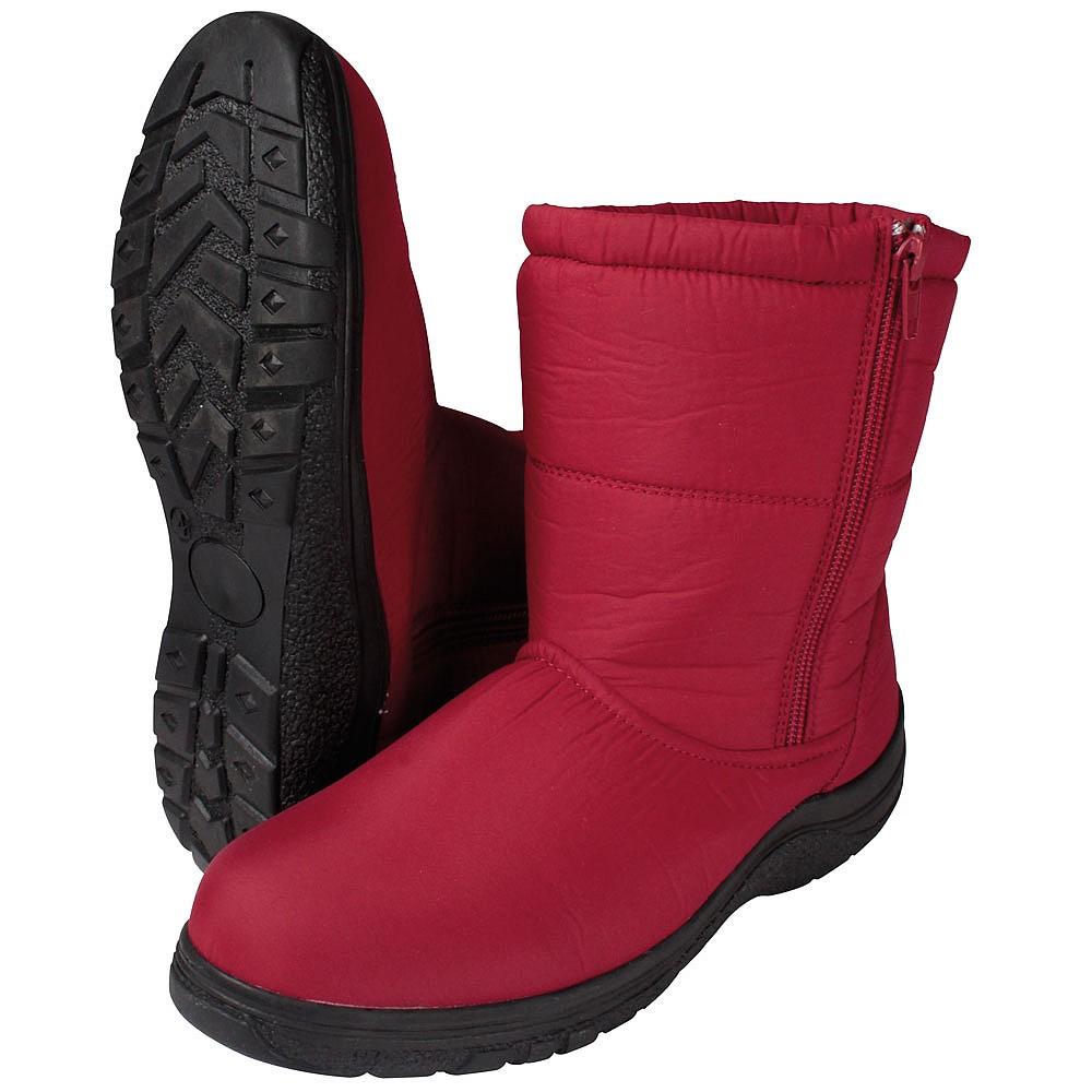 Ladies Red Winter Boots: warm