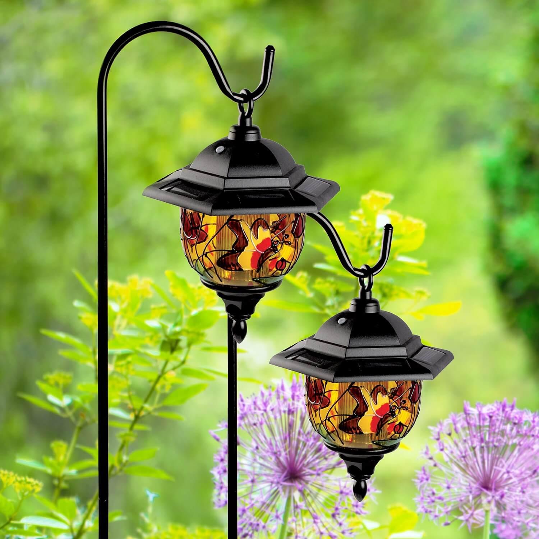 Outdoor Solar Lights Wilko: Wilko Garden Solar Light Tiffany Stick