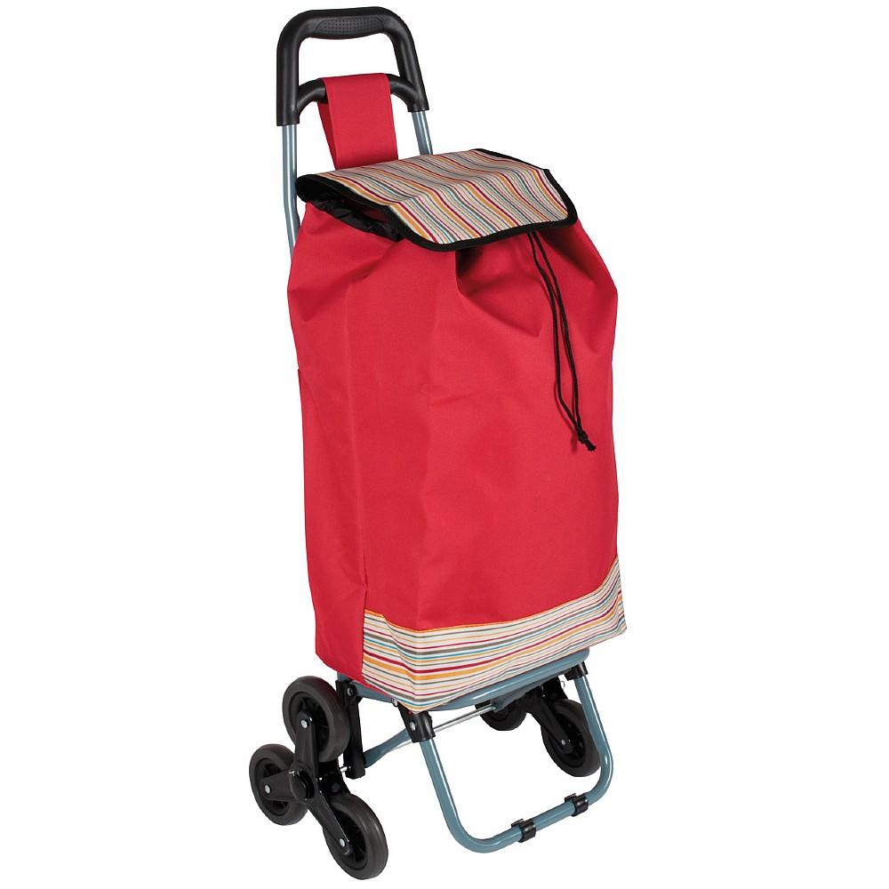 6 Wheel Shopping Bag Red