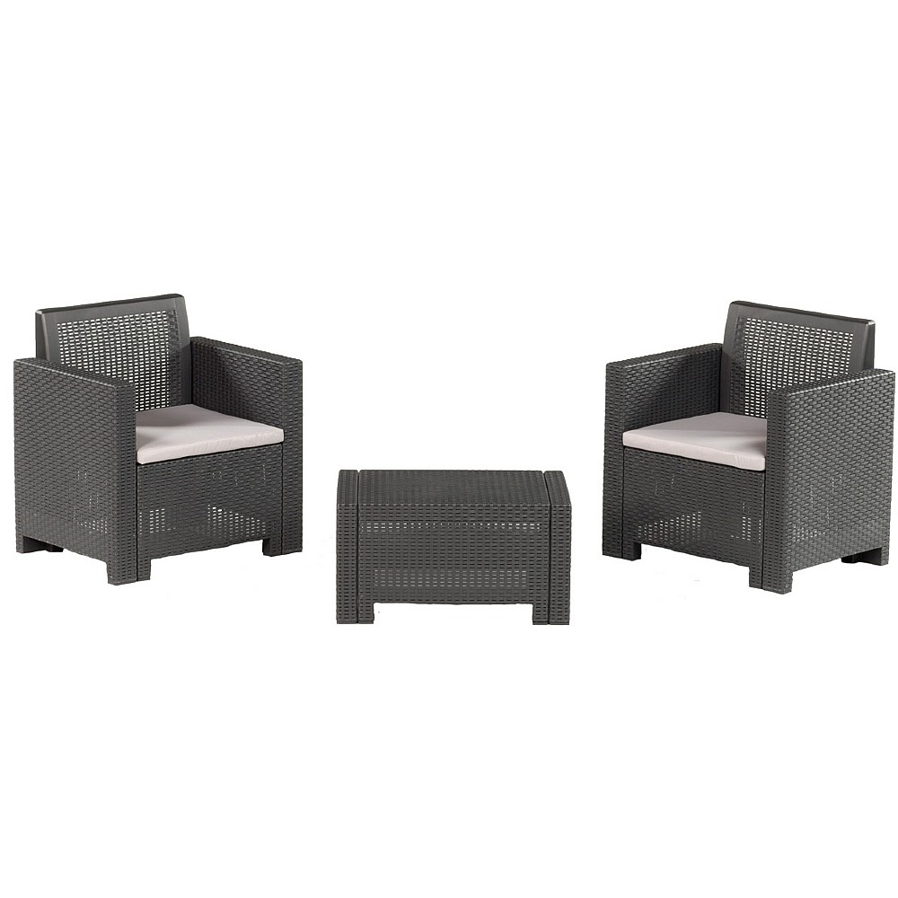 3Pc Table & Chair Set