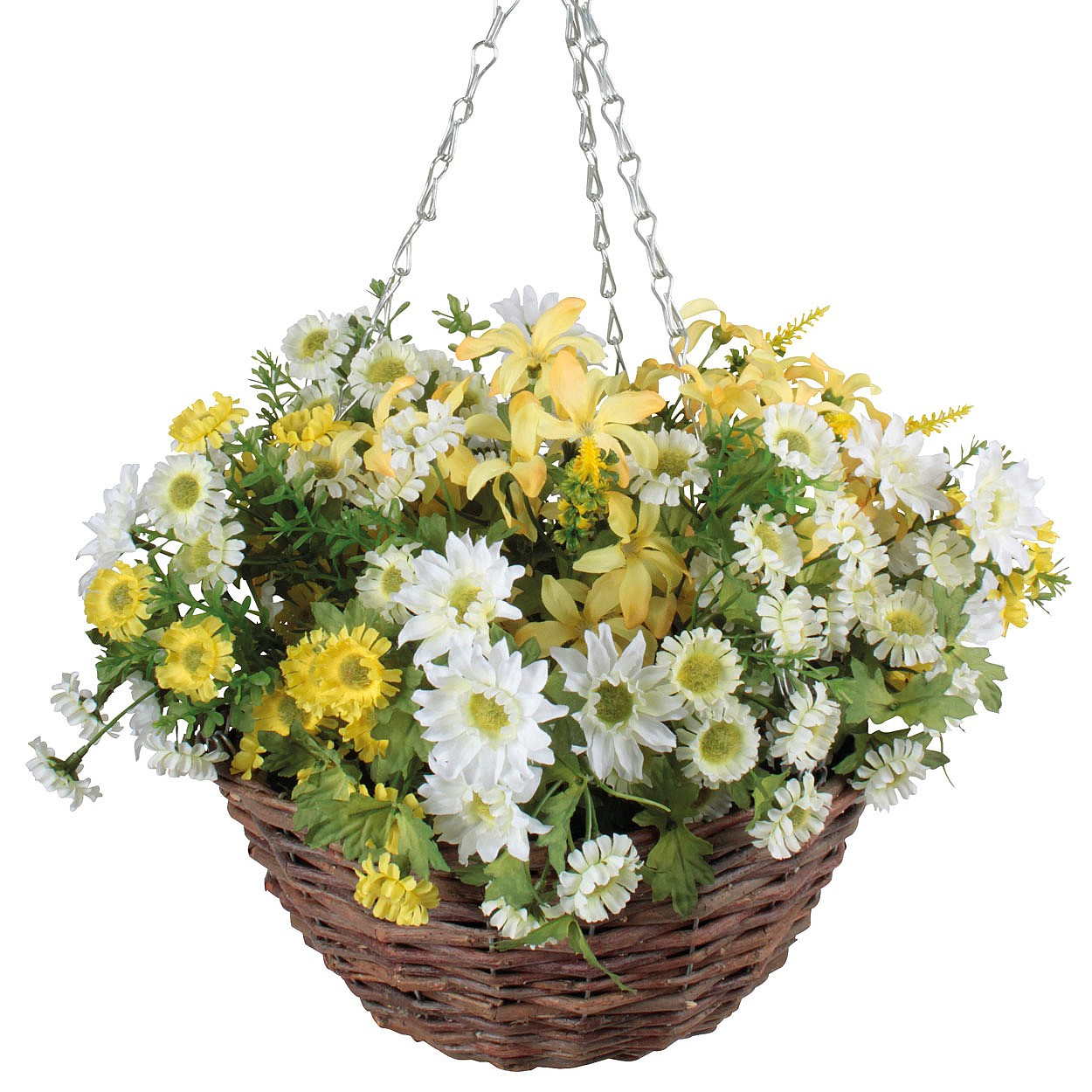 Genoeg Artificial Daisy Hanging Basket   Features   Coopers Of Stortford EJ87
