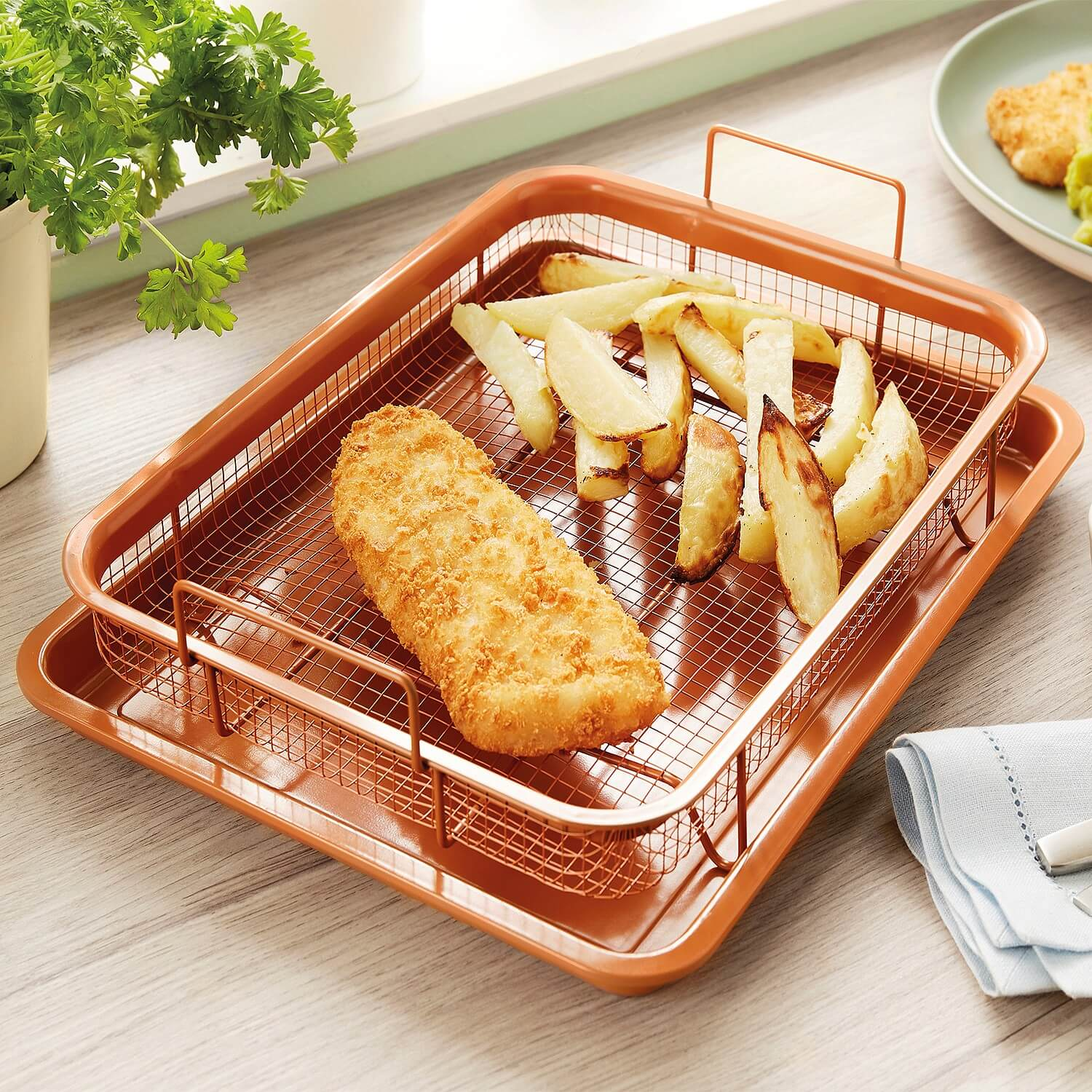 Copper King Crisping Tray by Coopers of Stortford