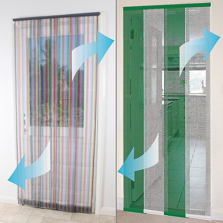 Image of 4 Piece Insect Door Screen Colours - Green & White
