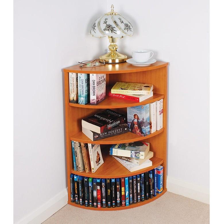 4 Shelf Corner Bookcase Colour - Light Oak