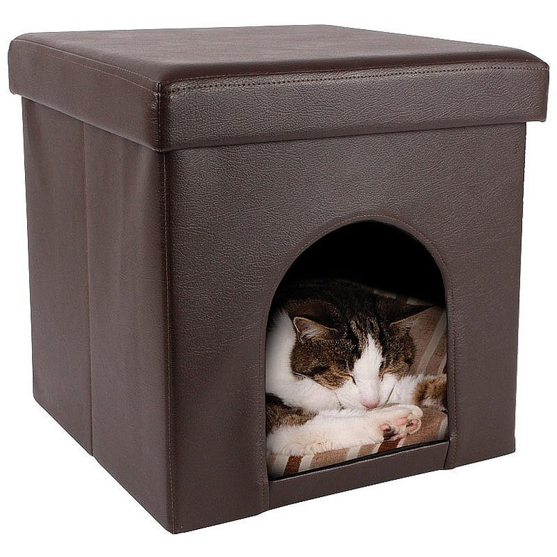 Ottoman Pet Bed Colour  Brown Pet Bed