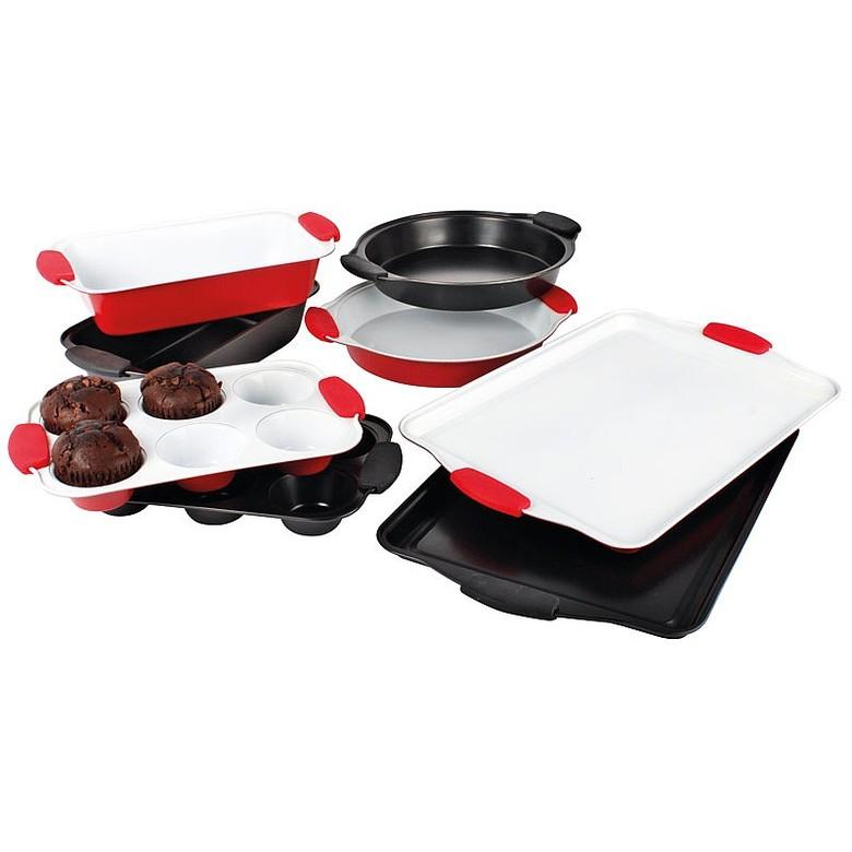 4 Piece Ceramic Bakeware Set Colour - Black