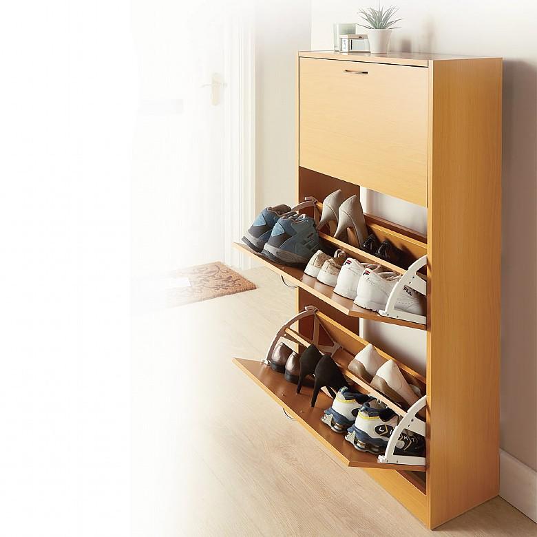 2 & 3 Drawer Shoe Storage Cabinets Drawer Choice - 3 Drawers