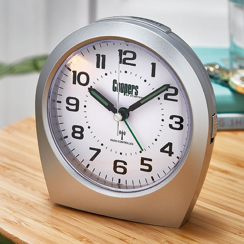 Big Digit RC Alarm Clock Colour  Silver