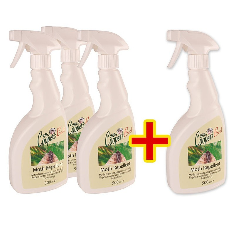 3x Mrs Coopers Moth Repellent + 1 free