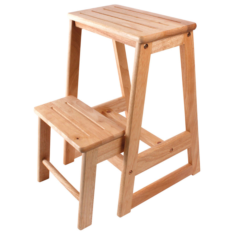 Two Step Wooden Stool