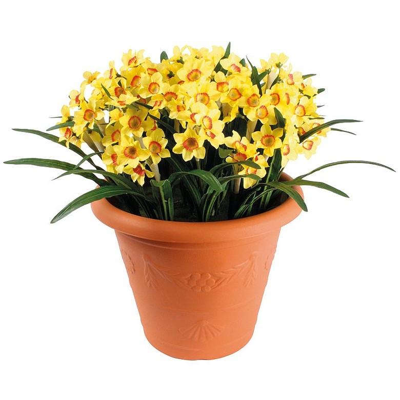Artificial Daffodil Pot