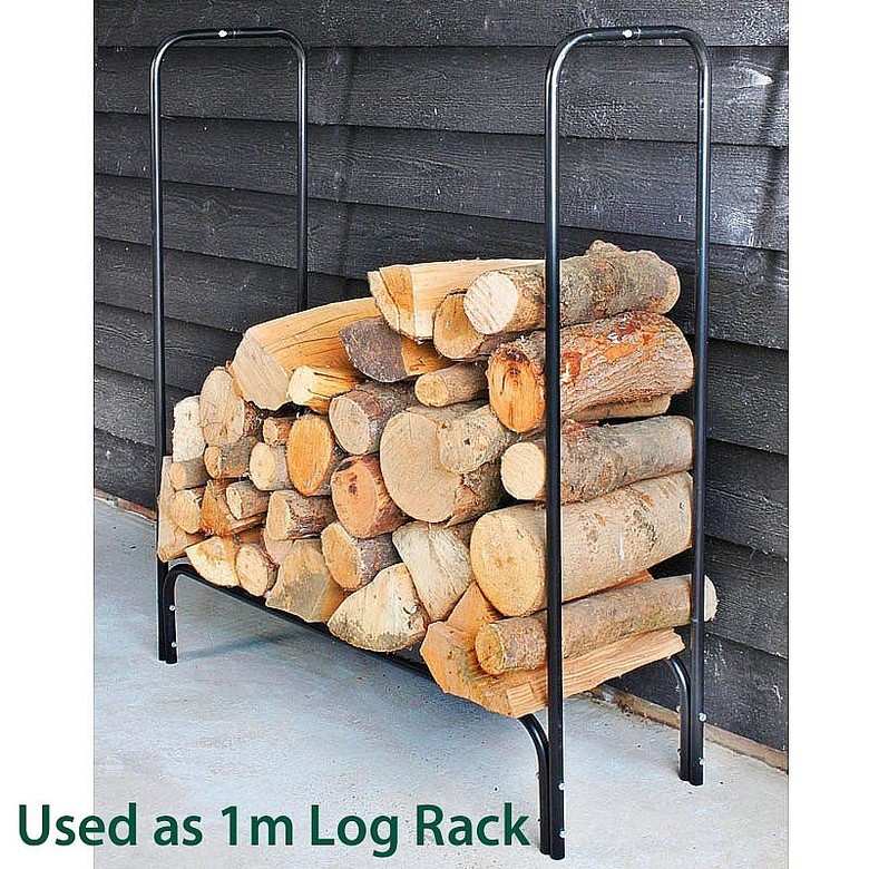 2m Log Rack with Cover