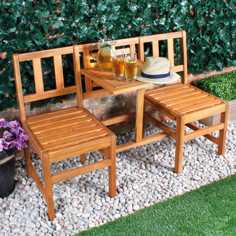 2 Seater Bench with Table