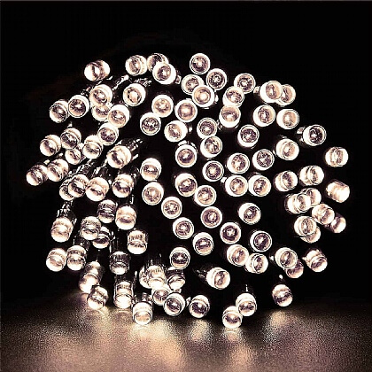 Solar-Powered 100-LED String Lights - Buy 2 & Save £5