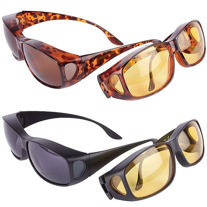Wrap-around UV Protection Sunglasses plus anti-glare glasses free
