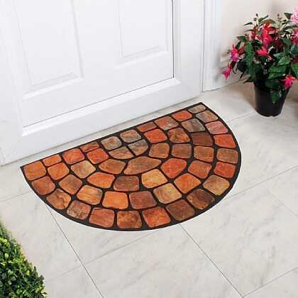 Half Moon Cobblestone Door Mat - Buy 2 Save £10