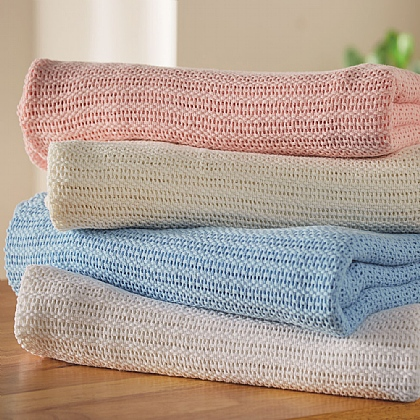 Classic Cellular Cotton Blankets