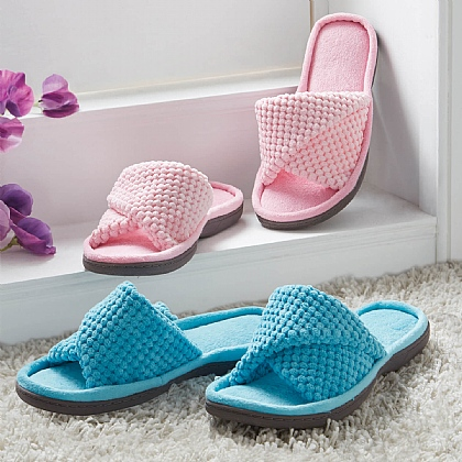 Blue Summer Mule Slippers - Buy 2 & Save £5