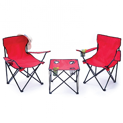 Red Folding Table & Chairs