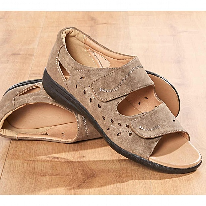 Lightweight Comfort Summer Sandals Beige - Buy 2 Pairs & Save £10