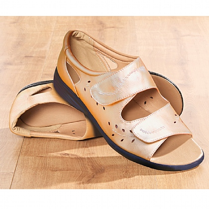 Lightweight Comfort Summer Sandals Gold - Buy 2 Pairs & Save £10