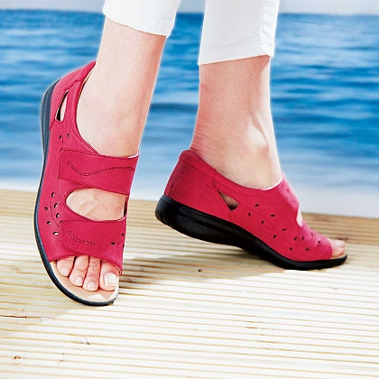 Lightweight Comfort Summer Sandals Red - Buy 2 Pairs & Save £10