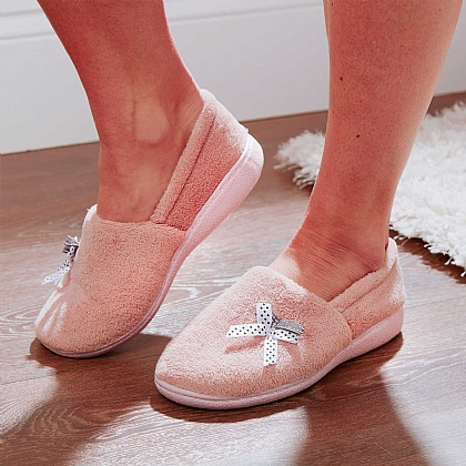 Pink Plush Slippers