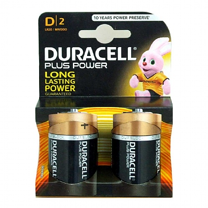 Duracell D Batteries - Pack of 2