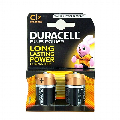 Duracell C Batteries - Pack of 2