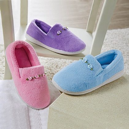 Rose Terry Slippers - Buy 2 & Save £5