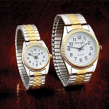 Two-Tone Quartz Watch - Buy 2 & Save £5