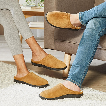Beige Unisex Gel Slippers - Buy 2 & Save £10