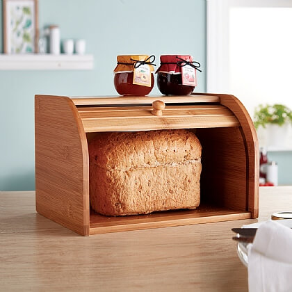 Small Roll-Front Bread Bin