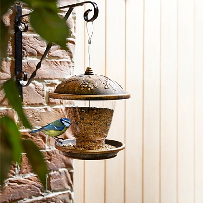 Antique Bronze-Effect Jumbo Bird Feeder