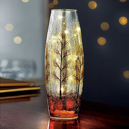 Winter Scene LED Vase